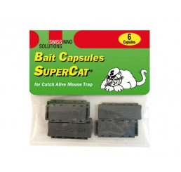 SWISSINNO BAIT CAPSULES FOR CATCH ALIVE MOUSE TRAP SUPERCAT