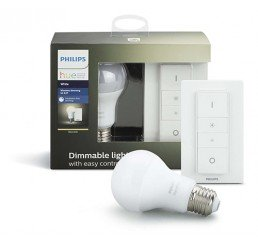 PHILIPS HUE WARM WHITE 9.5W A60 E27 1PC DIMMER KIT
