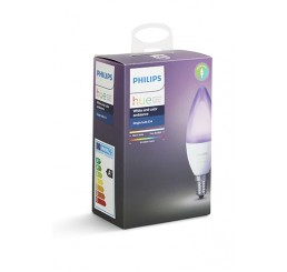PHILIPS HUE COLOUR/WHITE 6.5W B39 CANDLE E14 BULB