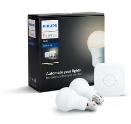 PHILIPS HUE WARM WHITE A19 2PCE STARTER KIT