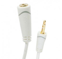 OMP 3.5MM STEREO PLUG TO SOCKET CABLE 100MM