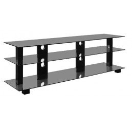 "OMP 3 SHELF 42-70"" TV TABLE BLACK KAIAPOI 1600"