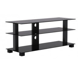 "OMP 3 SHELF 37-55"" TV TABLE BLACK  KAIAPOI 1200"