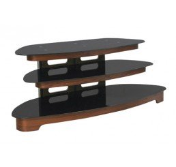 "OMP 3 SHELF 32-55"" TV TABLE WALNUT GLACIER"