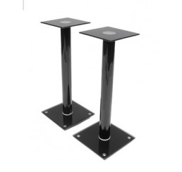 OMP SPEAKER STAND 1PAIR GLASS  BLACK ADRIATIC