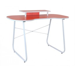 OMP SOHO SERIES CARNABY DESK ORANGE/WHITE