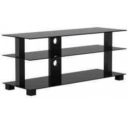 "OMP 3 SHELF 37-50"" TV TABLE BLACK KAIAPOI 1000"