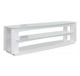 "OMP 3 SHELF 37-70"" TV TABLE WHITE KAWEKA"