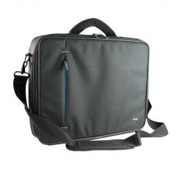 OMP APOLLO SERIES 2 BRIEFCASE BLACK/BLUE TRIM
