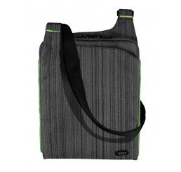 OMP MINERVA SERIES TABLET/LAPTOP SATCHEL GREY/GREEN