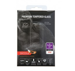 OMP GALAXY S7 PREMIUM FULL COVERAGE TEMPERED GLASS SCREEN PROTECTOR BLACK