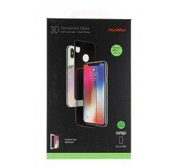 OMP iPHONE X /XS PREMIUM TEMPERED GLASS SCREEN PROTECTOR SET BLACK