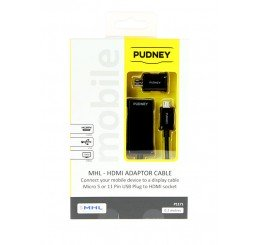 PUDNEY MHL 2.0 HDTV HDMI ADAPTOR CABLE BLACK