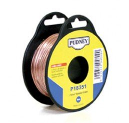 PUDNEY SPEAKER WIRE 0.75MM CLEAR/RED 6 METRES
