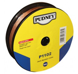 PUDNEY SOUNDFLEX 0.5MM  CLEAR/RED per METRE