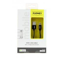 PUDNEY USB A PLUG TO MINI USB PLUG 5PIN V2.0 2 METRE BLACK