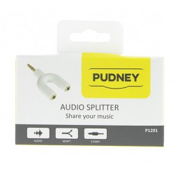 PUDNEY 3.5MM STEREO PLUG TO 2X 3.5MM STEREO SOCKETS ADAPTOR