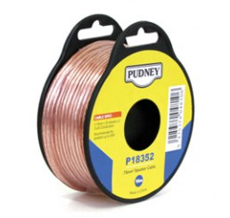 PUDNEY SPEAKER WIRE 0.75MM CLEAR/RED 10 METRES