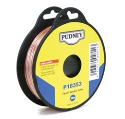 PUDNEY SPEAKER WIRE 0.75MM CLEAR/RED 15 METRES