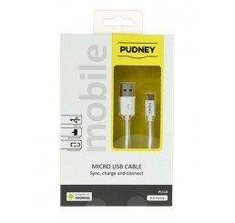 PUDNEY USB A PLUG TO MICRO USB PLUG 0.5 METRE WHITE