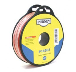 PUDNEY SPEAKER WIRE 1.5MM CLEAR/RED 15 METRES