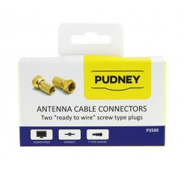 PUDNEY F TWISTON RG6 COAXIAL WIRE PLUGS PACK 2