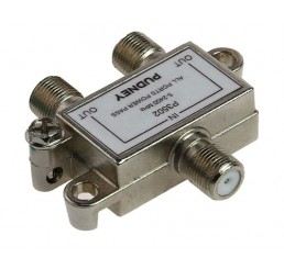 PUDNEY  F SPLITTER  2 WAY METAL 5-2400 MHz