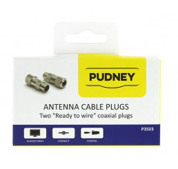 PUDNEY COAXIAL PLUGS RG59 METAL PACK 2