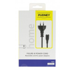 PUDNEY NZ 2PIN PLUG TO FIG8 REV SOCKET 1.5 METRE