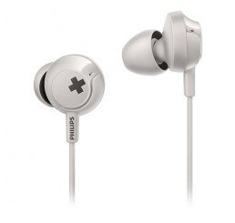 PHILIPS IN EAR BASS+ HEADPHONES WITH MIC. WHITE
