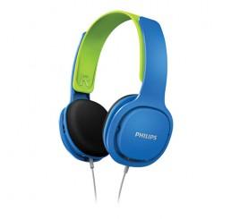 PHILIPS ON EAR KIDS HEADBAND HEADPHONE BLUE