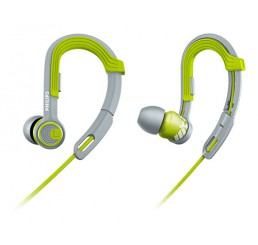 PHILIPS EARHOOK SPORTS HEADPHONES ACTIONFIT GREY/GREEN