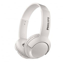 PHILIPS WIRELESS ON EAR BLUETOOTH HEADPHONES WHITE