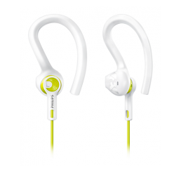 PHILIPS EARBUD SPORTS HEADPHONE ACTIONFIT WHITE